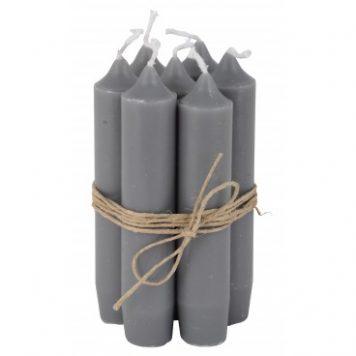 ib-laursen dinerkaarsje kort donker grijs 7 stuks3