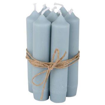 ib-laursen dinerkaarsje kort licht blauw 7 stuks