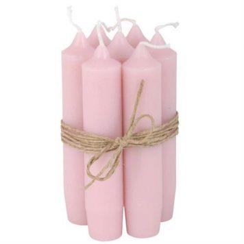 ib-laursen dinerkaarsjes kort licht roze 6 stuks