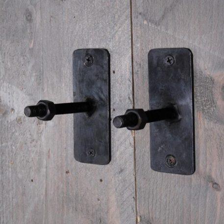 kapstokhaak screw hoog 10 cm breed 4 cm diep 8 cm smeedijzer