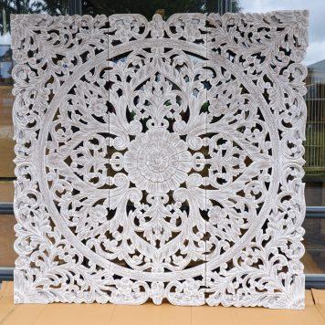wandpaneel houtsnijwerk white wash pinar 3-luik 180 bij 180 cm7
