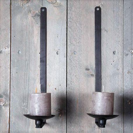 hangkandelaar wall wandkandelaar ijzer hoog 41 cm diameter kaarsschotel 10 cm diep 17.5 cm1a
