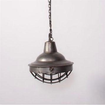 hanglamp industrial sylt staal antraciet diameter 23 cm
