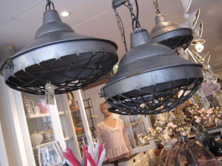 hanglampen industrial sylt staal met korf doorsnede 30 cm en 40 cm