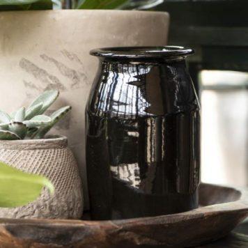 ib-laursen pot campagnard zwart hoog 18.5 cm diameter 14 cm