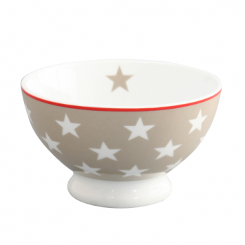 krasilnikoff happy bowl schaal ster taupe