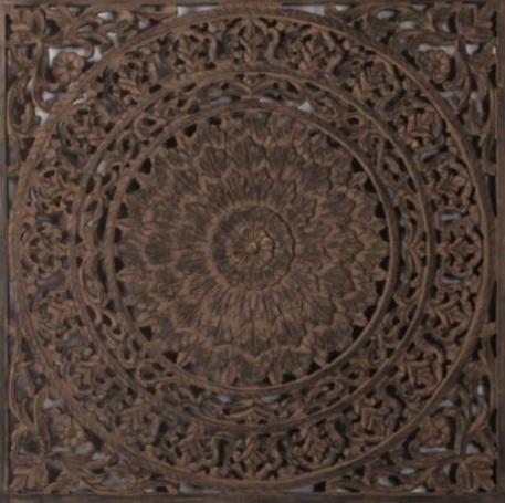 wandpaneel barcelona ash grey teak frame 90 bij 90 cm