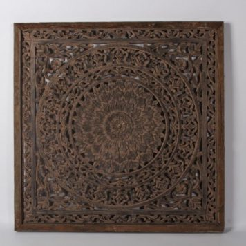 wandpaneel barcelona ash grey teak frame 90 bij 90 cm1