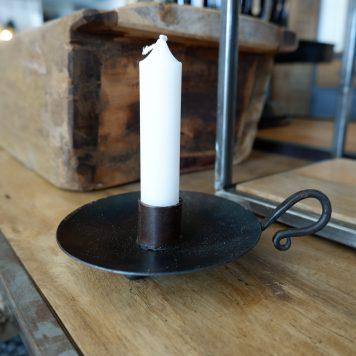 blaker voor dinerkaars ijzer hoog 4 cm breed 16 cm diameter 11.5 cm3