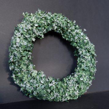 sia home fashion groene krans met ijskristallen en parels zijde diamater 30 cm2
