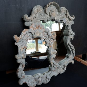 spiegel aranzano warm grijs hardhout hoog 45 cm breed 30 cm en hoog 60 cm breed 46 cm1