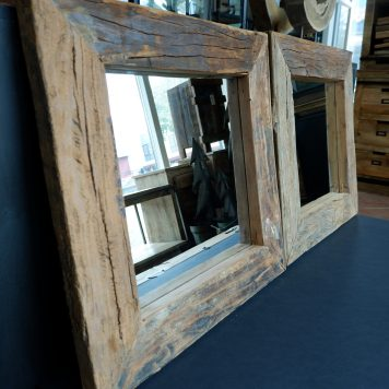 spiegel truckwood 60 x 60 cm vierkant