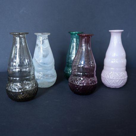 ib-laursen gerecycled glas vaasjes unique 5 kleuren hoog 12 cm diameter 6 cm1