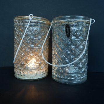 riverdale helder glazen sfeerlicht hoog 16 cm diameter 10 cm
