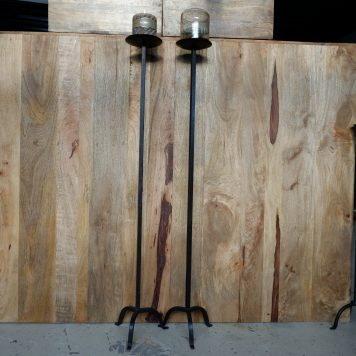 vloerkandelaar nick gietijzer voor stompkaars hoog 121 cm