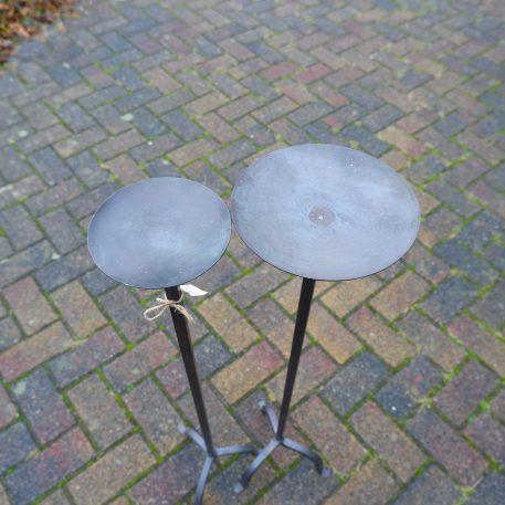 vloerkandelaar nick gietijzer voor stompkaars hoog 90 cm schotel kaars diameter 15 cm en 20 cm20