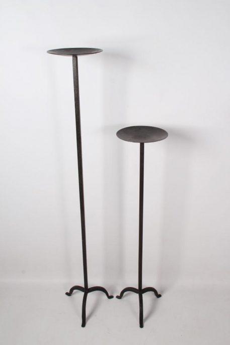 vloerkandelaar nick gietijzer voor stompkaars hoog 90 cm en hoog 121 cm4