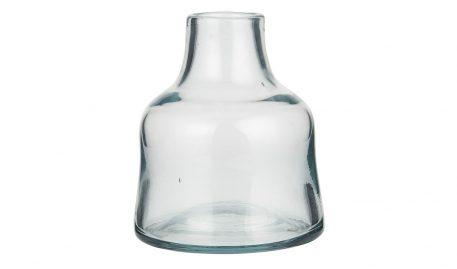 glazen vaas mond geblazen glas hoog 13.5 cm diameter 11.5 cm opening hals diameter 4.5 cm ib-laursen vase low2