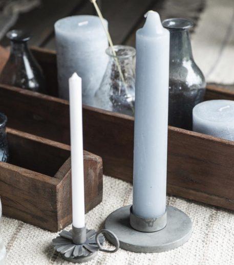ib laursen candle holder voor waxine of dinerkaars XL metaal zink grijs diameter 10 cm hoog 3 cm3