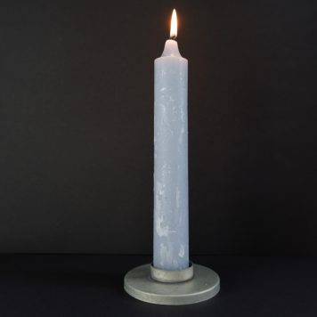 ib laursen candle holder voor waxine of dinerkaars XL metaal zink grijs diameter 10 cm hoog 3 cm5