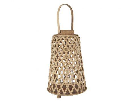 bamboo hurricane conical hoog 39.5 cm diameter 25.5 cm ib-laursen bamboo lantaarn conisch