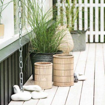 bamboo hurricane set van 2 hoog 25.5 cm en diameter 18 cm hoog 20 cm en diameter 15 cm sfeerlichten bamboo ib laursen20