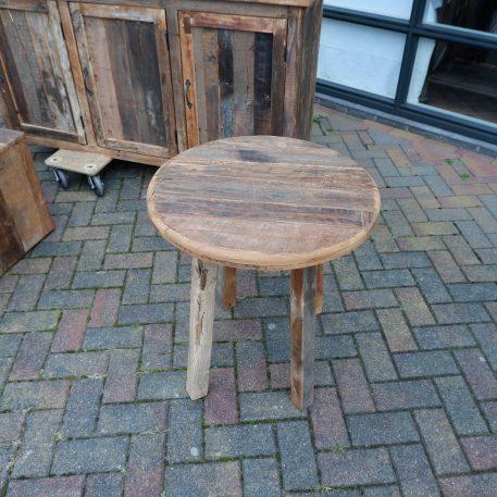 barnwood bijzettafel rond reclaimed wood hoog 65 cm diameter 61 cm blad dikte 3 cm6