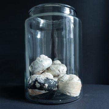 glazen vaas mond geblazen cilinder glas hoog 27 cm diameter 19 cm ib-laursen8