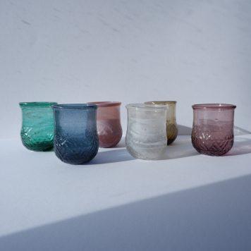 ib-laursen gerecycled glas sfeerlichtje unique 6 kleuren hoog 7.5 cm diameter 6 cm