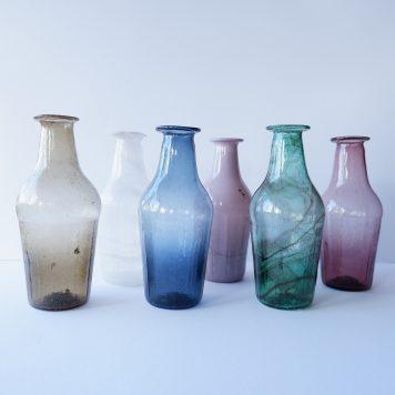 ib-laursen gerecycled glas vaasjes unique 6 kleuren hoog 16.5 cm diameter 7 cm