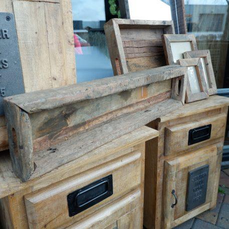 barnwood tray lang dienblad truckwood breed 77 cm diep 18 cm rand 7.5 cm hoog