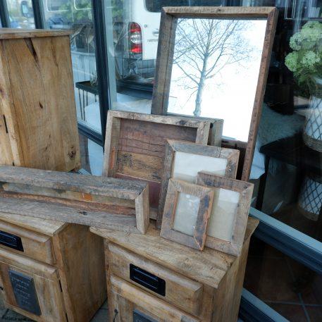 barnwood tray vierkant dienblad truckwood breed 33 cm diep 33 cm rand 6 cm hoog