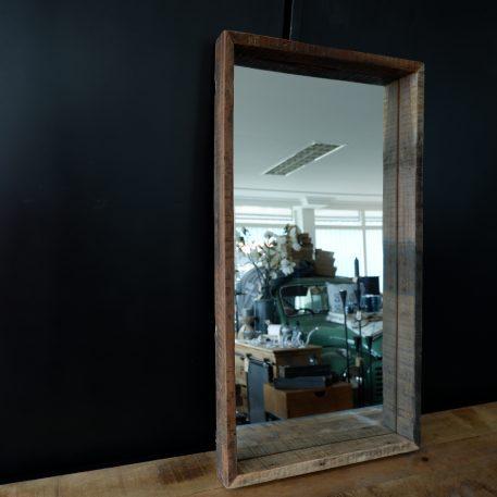 spiegel truckwood hoog 75 cm breed 40 cm diep 5 cm