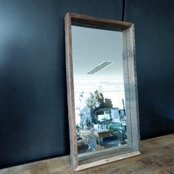 spiegel truckwood hoog 75 cm breed 40 cm diep 5 cm3