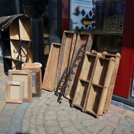 autenthieke-steenmal-dubbel-hoog-10-cm-breed-58-cm-diep-15-cm brickmold dubbel dienbladen extra lang oud hout