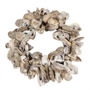 krans van oesters schelpen diameter 40 cm dik 10 cm