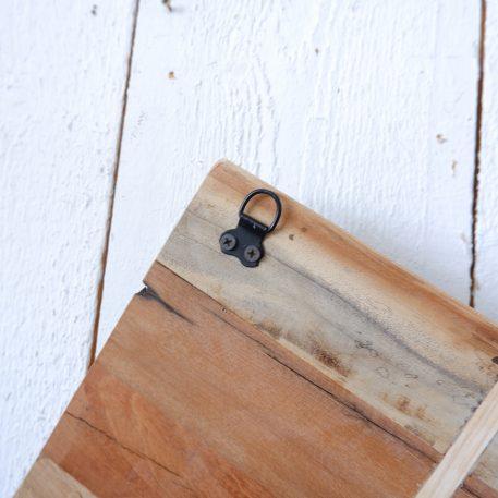 barnwood posthouder enkel aan de wand zink hoog 25 cm breed 35 cm diep 5.5 cm3