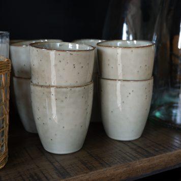 ib laursen sand dunes mug beker zonder oor hoog 9 cm diameter 8 cm stoneware6