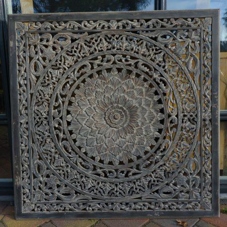 wandpaneel houtsnijwerk barcelona 120 x 120 cm ash grey15