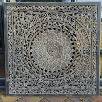 wandpaneel houtsnijwerk barcelona 120 x 120 cm ash grey16