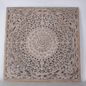 wandpaneel houtsnijwerk barcelona 90 x 90 cm white wash light grey1a