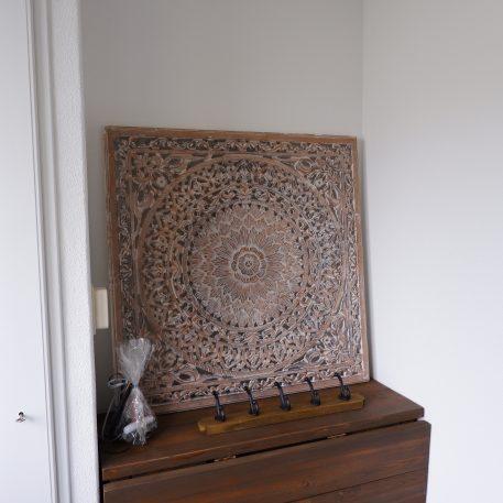 wandpaneel houtsnijwerk barcelona 90 x 90 cm white wash light grey9