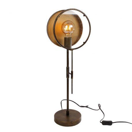 antiek gouden tafellamp hoog 67 cm diameter 22 cm en diameter 17 cm8