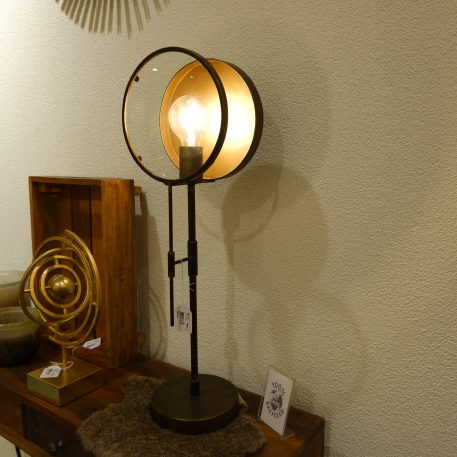 antiek gouden tafellamp hoog 67 cm diameter 22 cm en diameter 17 cm9