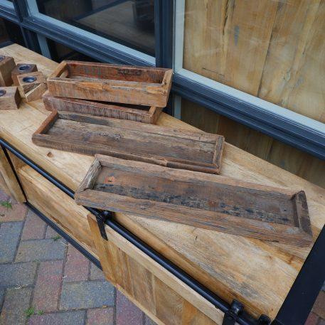 barnwood dienblad hoog 6 cm breed 39 cm diep 15 cm en dienblad lang laag hoog 3 cm breed 55 cm diep 15 cm trays truckwood railway wood oud hout