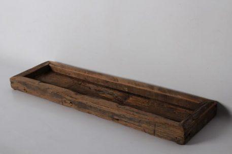 barnwood dienblad laag hoog 3 cm breed 55 cm diep 15 cm truckwood railway wood oud hout