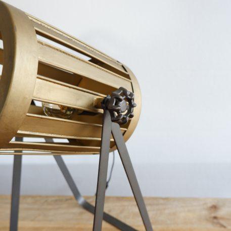 bureaulamp Spot metaal goud en warm grijs hoog 46 cm11