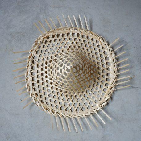 hat wanddecoratie hoed pitriet naturel diameter 55 cm hoog 16 cm