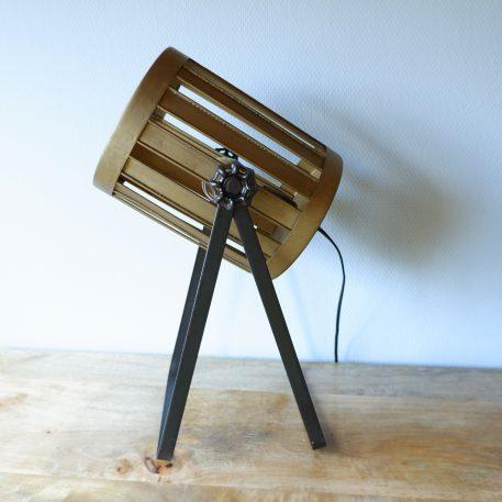 bureaulamp Spot metaal goud en warm grijs hoog 46 cm3