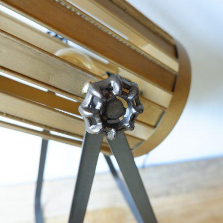 bureaulamp Spot metaal goud en warm grijs hoog 46 cm4
